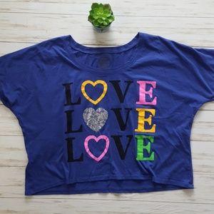 Rag n Stitch Love crop t-shirt size XXL